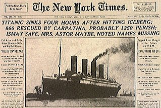 Image result for the titanic sinking