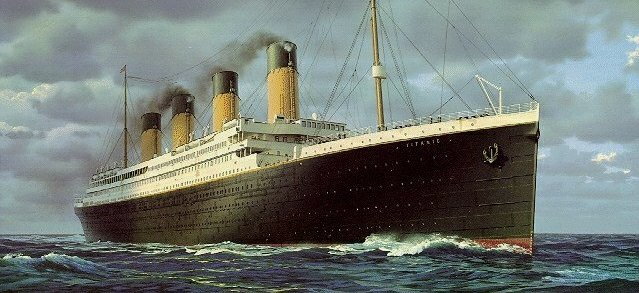 Painting of Royal Mail Steamer Titanic